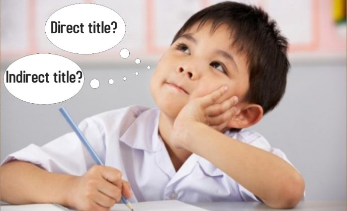 Learn about the different types of titles to write a good story for the PSLE composition