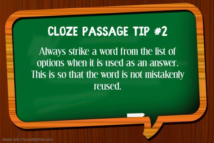 Primary 3 Grammar Cloze Tip 2