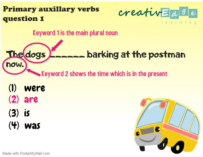 Primary 1 English Grammar Syllabus - primary auxillary verb question 1