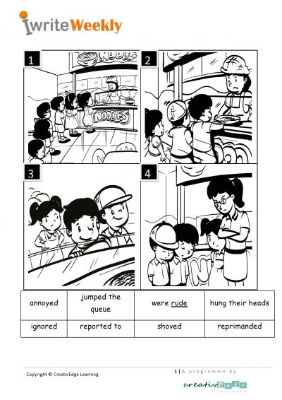 Primary 1 English composition topic