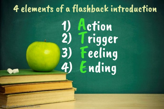4 main elements to write a flashback introduction for Primary 5 composition