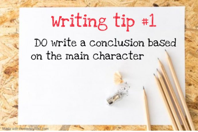 Tip 1 for writing a conclusion for Primary school composition - write a conclusion based on the main character