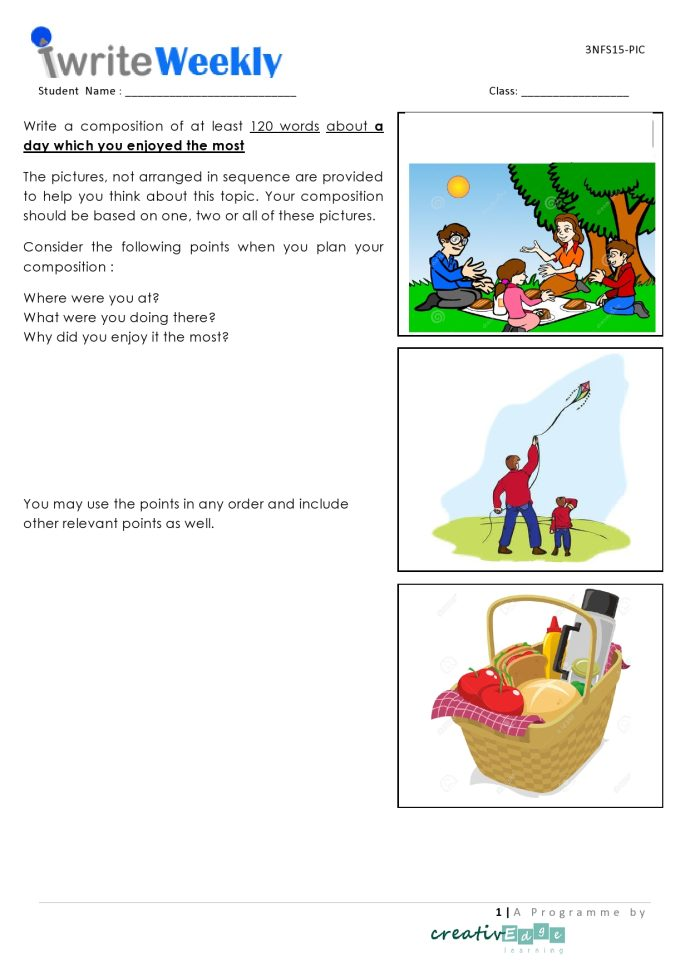3 key rules for Primary 3 English composition ...